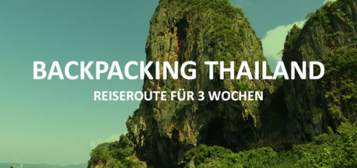 Backpacking Thailand Reiseroute