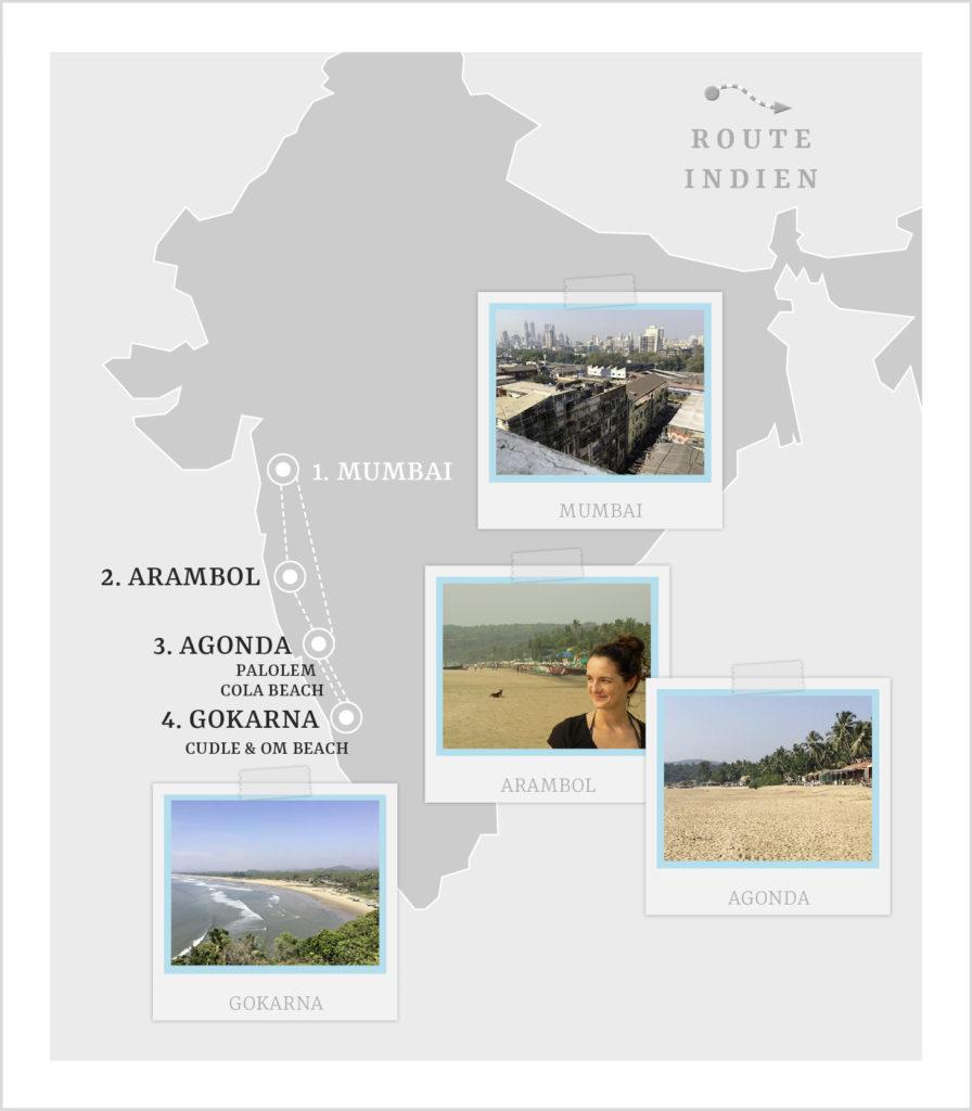 Reiseroute Indien für 3 Wochen